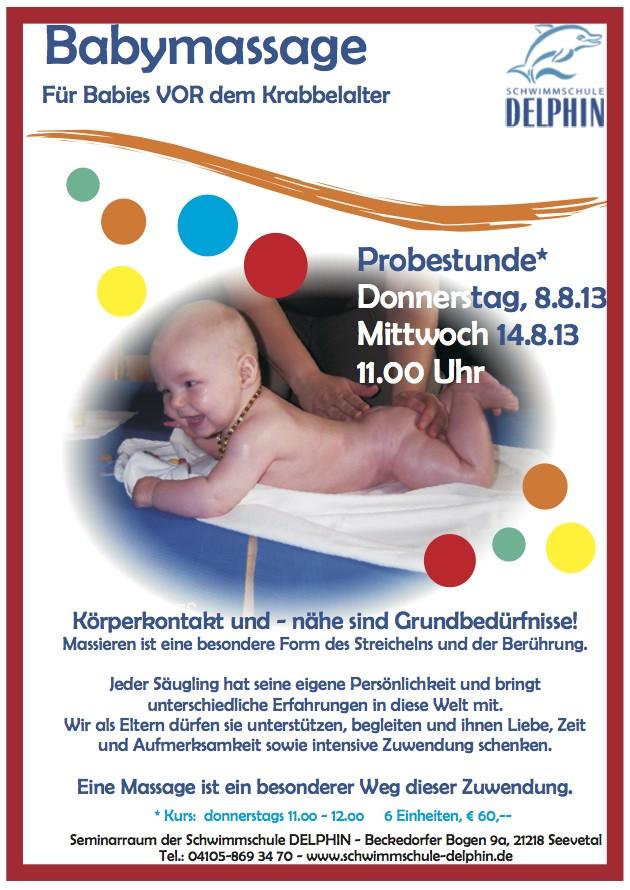 Babymassage für Babys vor dem Krabbelalter