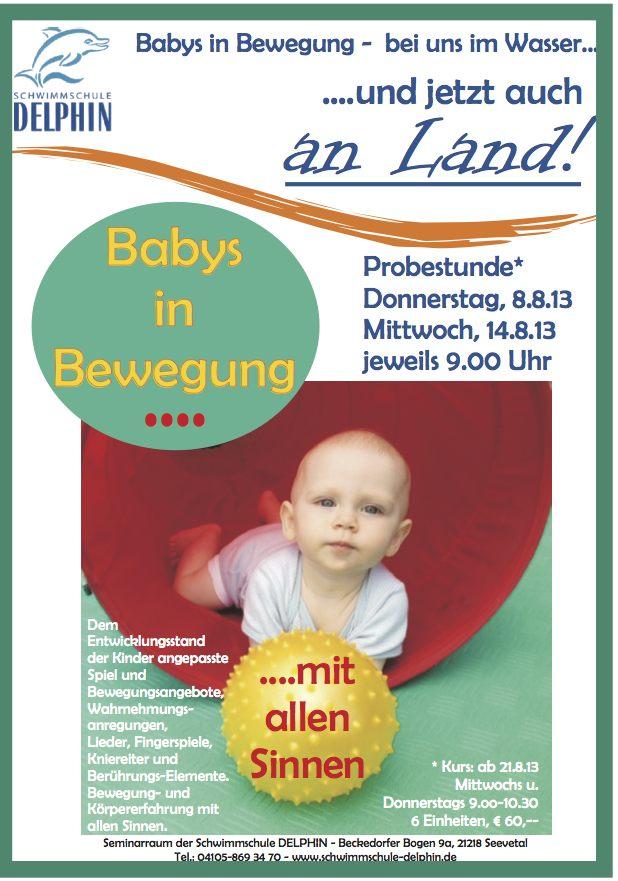 Babys in Bewegung – jetzt auch an Land!